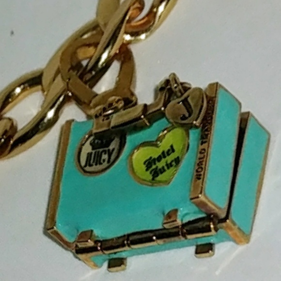 Juicy Couture Jewelry - Juicy WORLD TRAVELER SUITCASE LOCKET CHARM retired